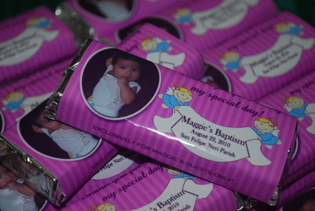 personalized chocolate wrappers